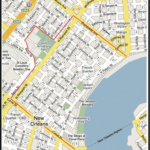 Street Map New Orleans French Quarter Global Map