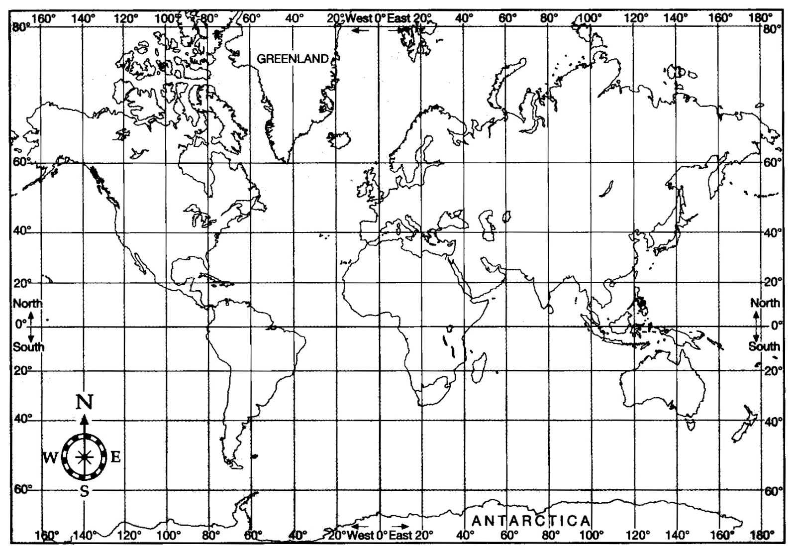 The Best World Map With Latitude And Longitude Printable