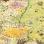 The Lion The Witch And The Wardrobe Map Of Narnia And The