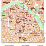 Tourist Map Of Valencia City Center Valencia City Center