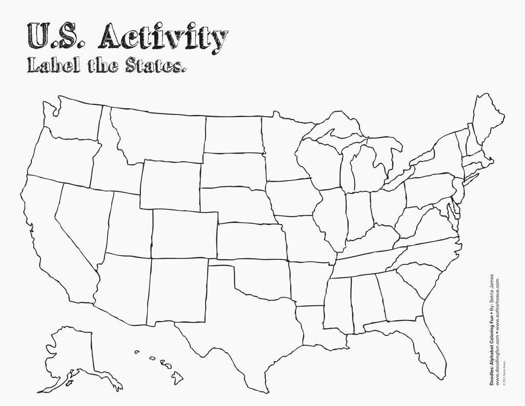 Us 50 States Map Printable Printable US Maps