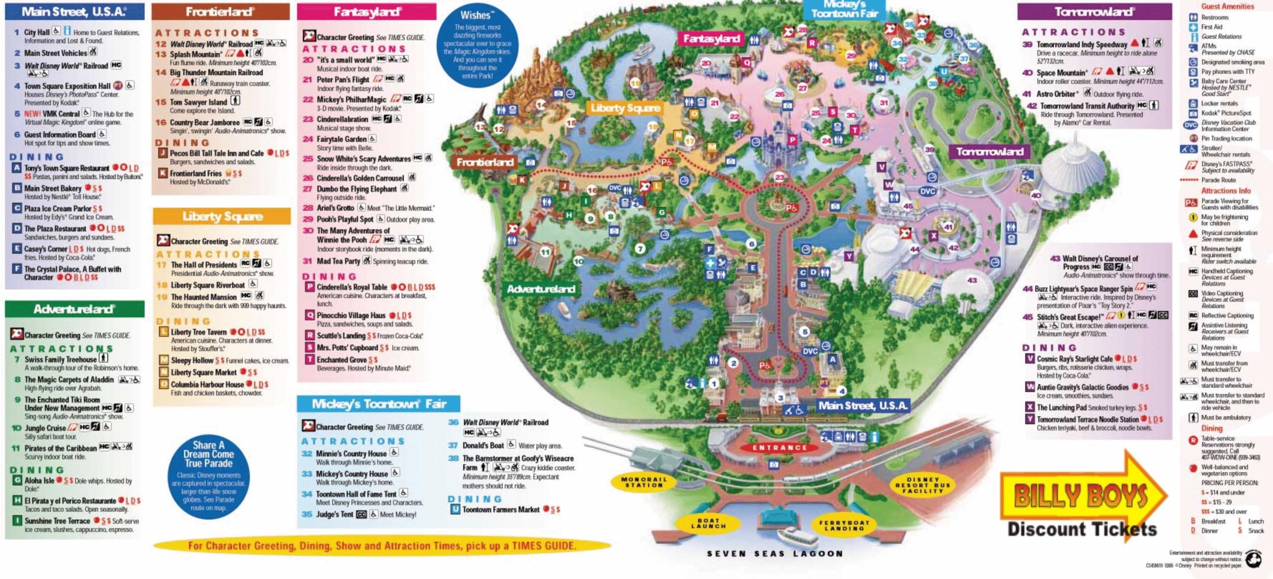Walt Disney World Map Pdf 1