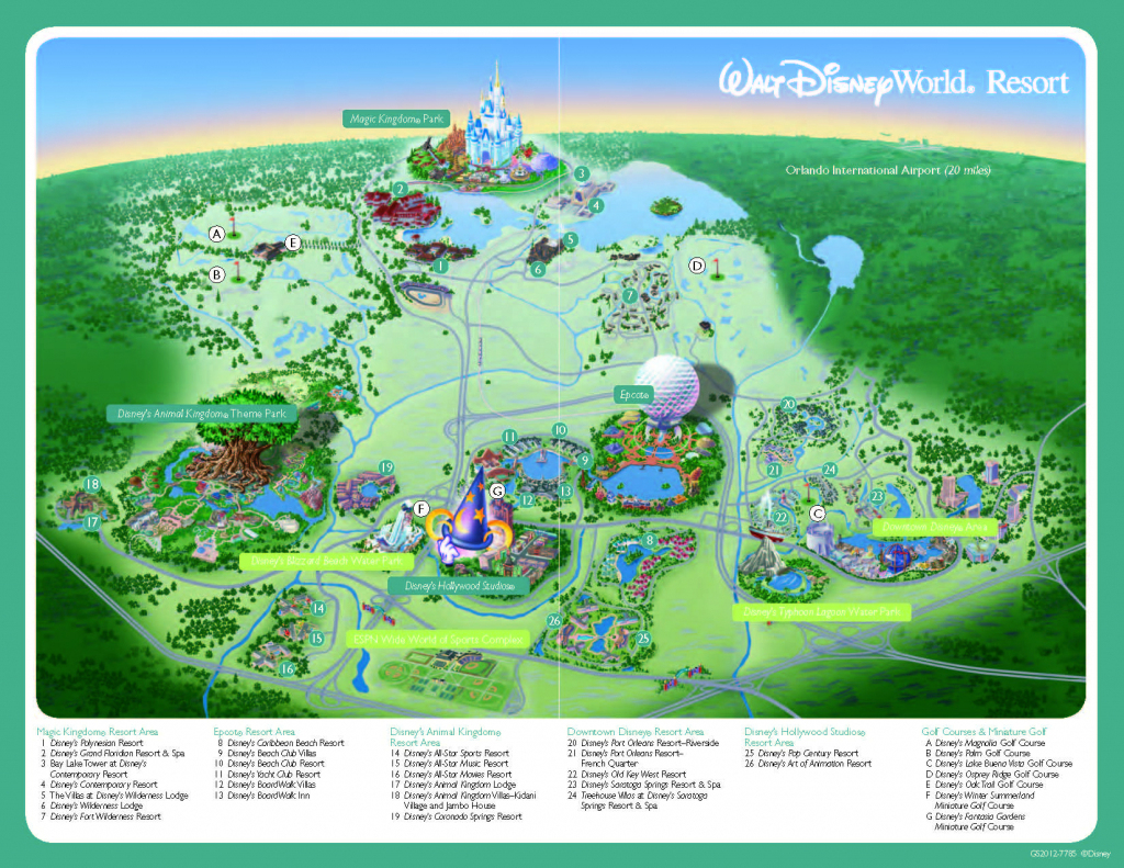 Walt Disney World Park Maps Printable Printable Maps