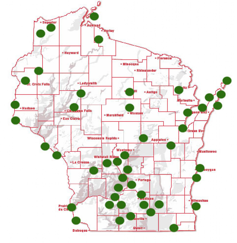 Wisconsin State Campgrounds Map Printable Map