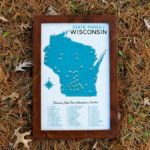 Wisconsin State Parks Map 11x17 Print ImagesOfWisconsin