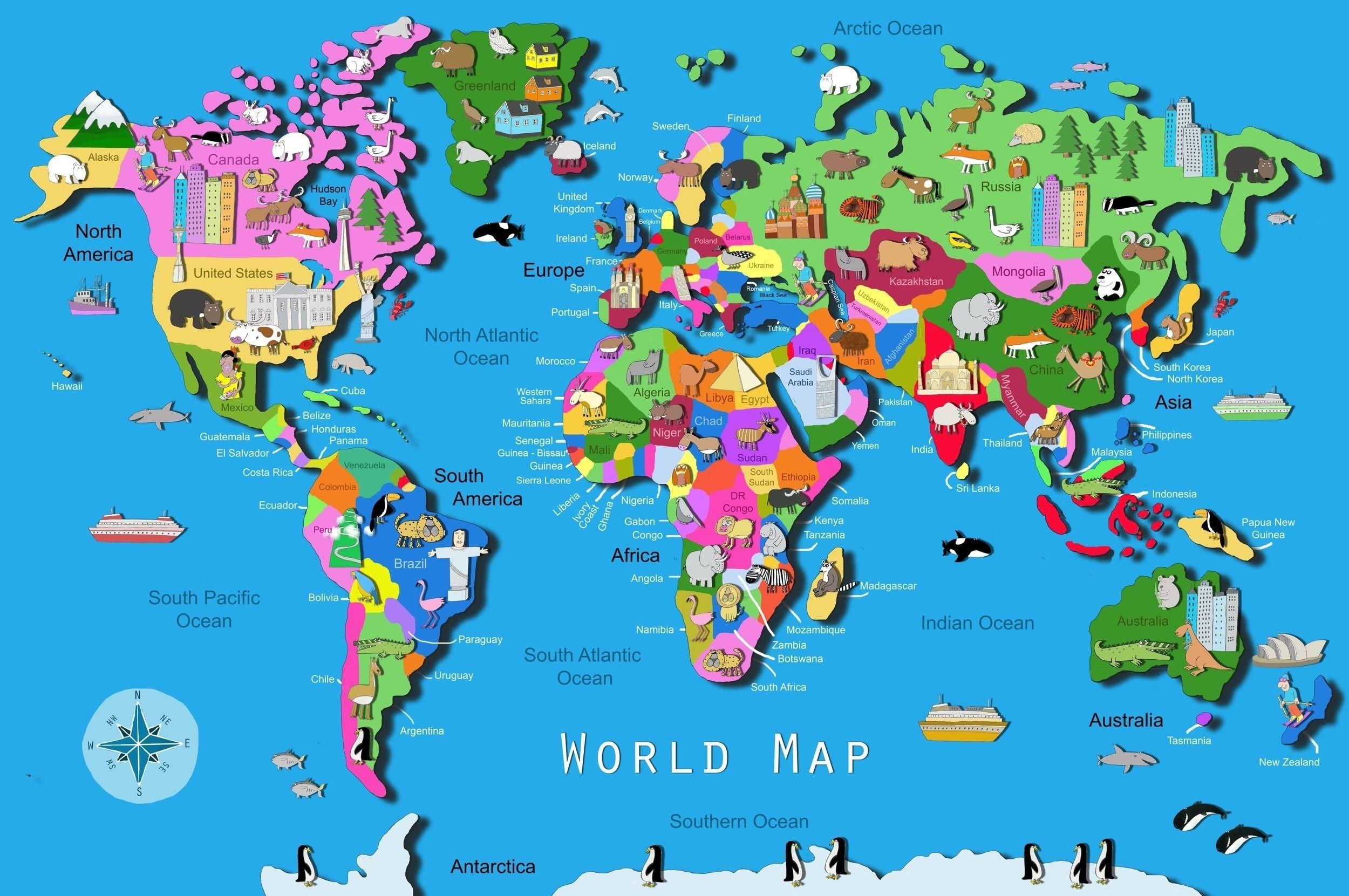 World Map Download Big Size Fresh World Map Kids Printable