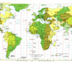 World Map With Latitude And Longitude Lines Printable