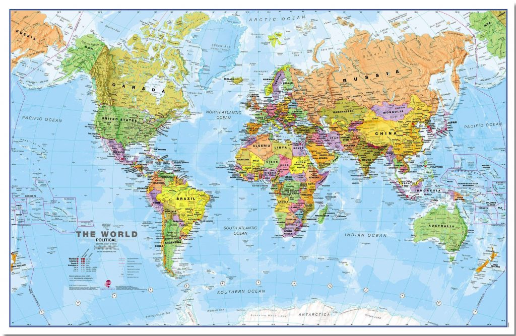 World Wall Map Political Idea Pinterest Mapas