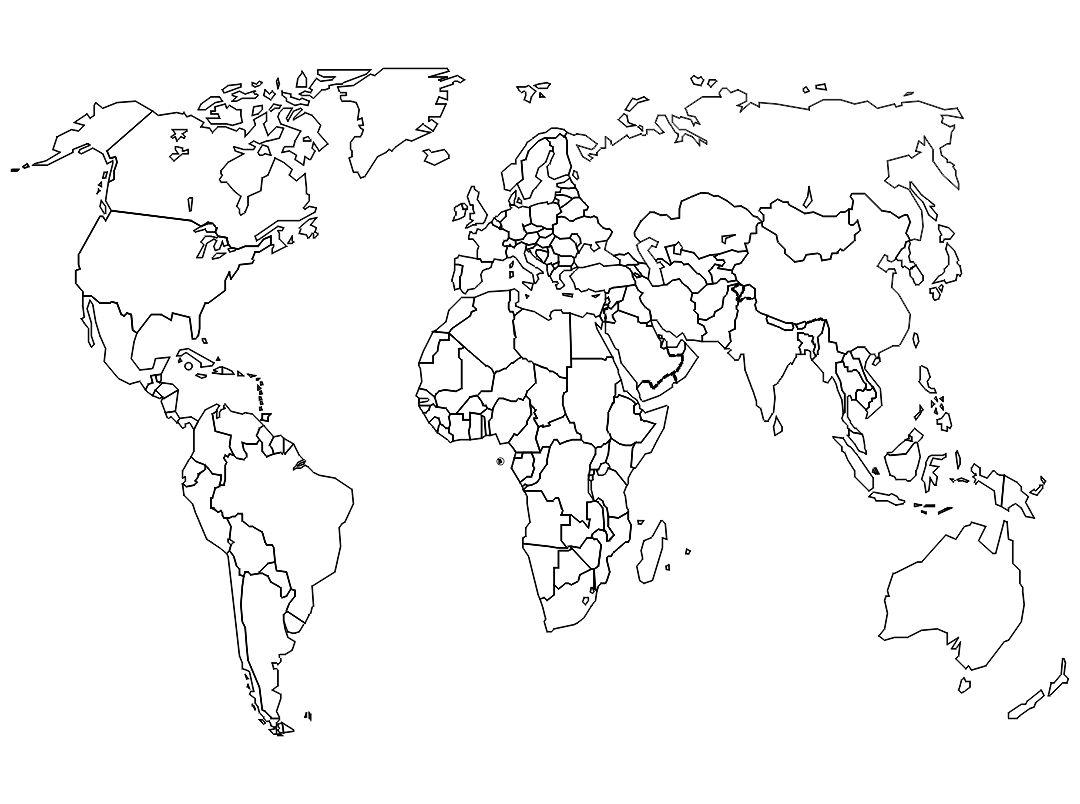 4 Best Large Blank World Maps Printable Printablee