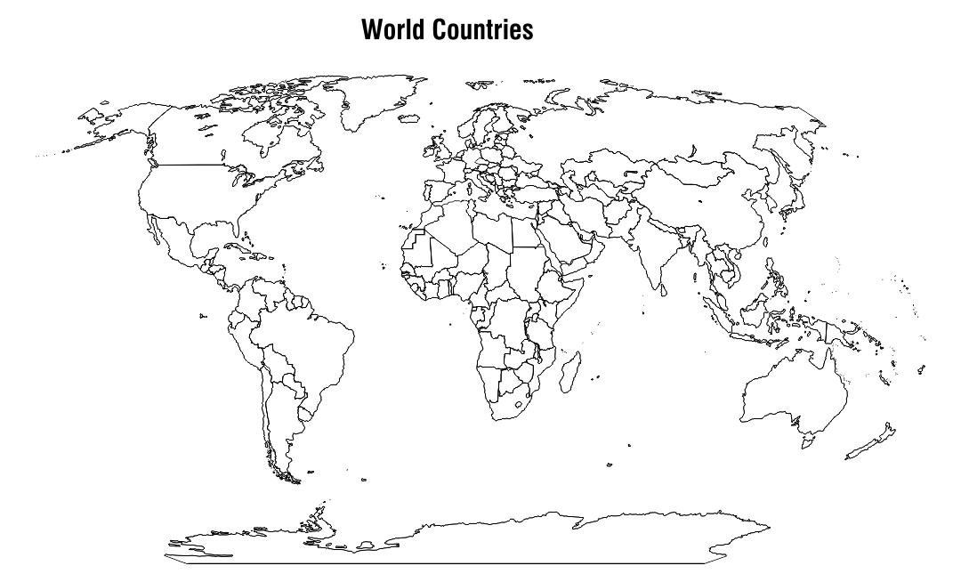 7 Best Blank World Maps Printable Printablee