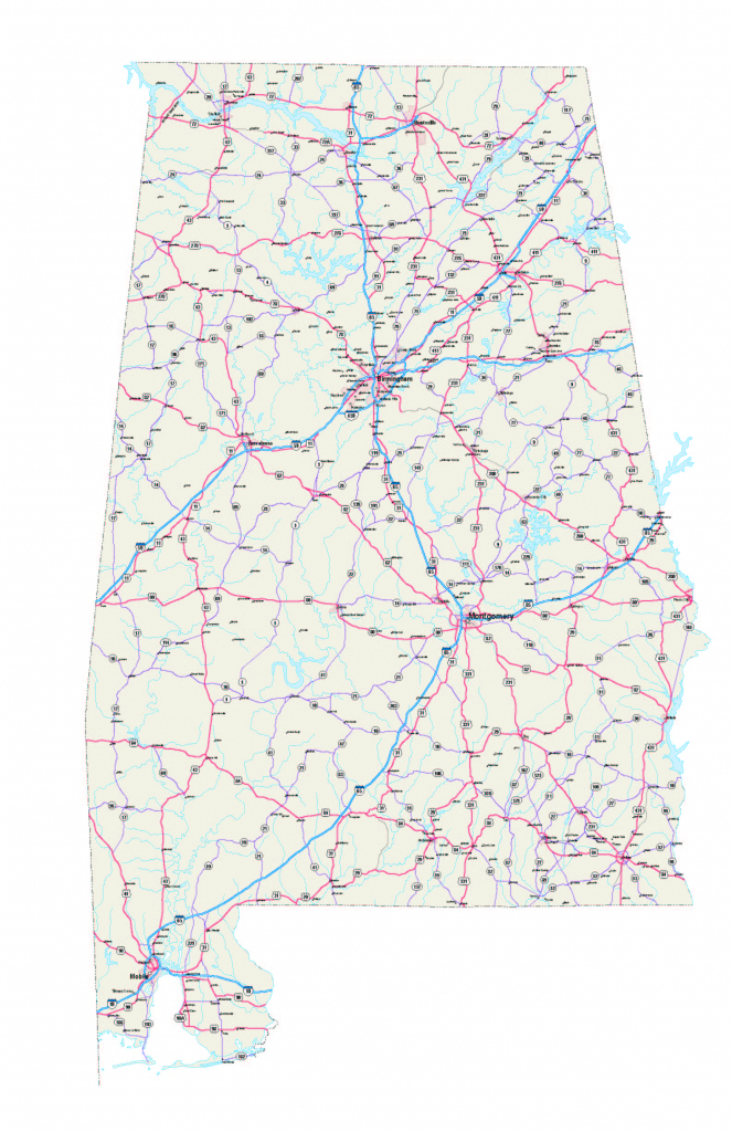 Alabama Outline Maps And Map Links In Alabama State Map