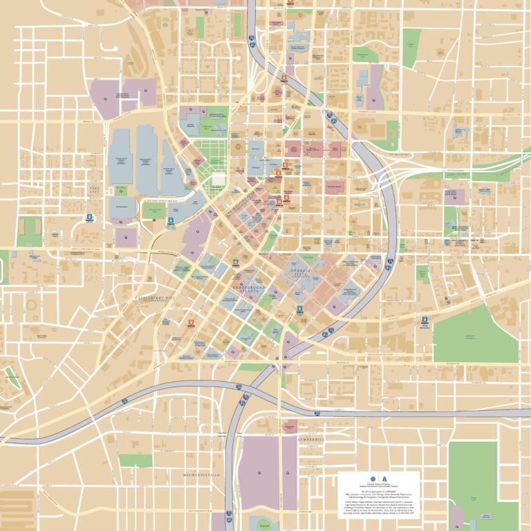 Atlanta Downtown Map