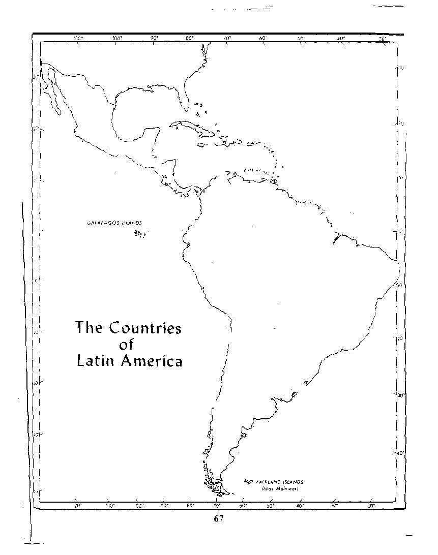 Blank Map Of Latin America Free Printable Maps