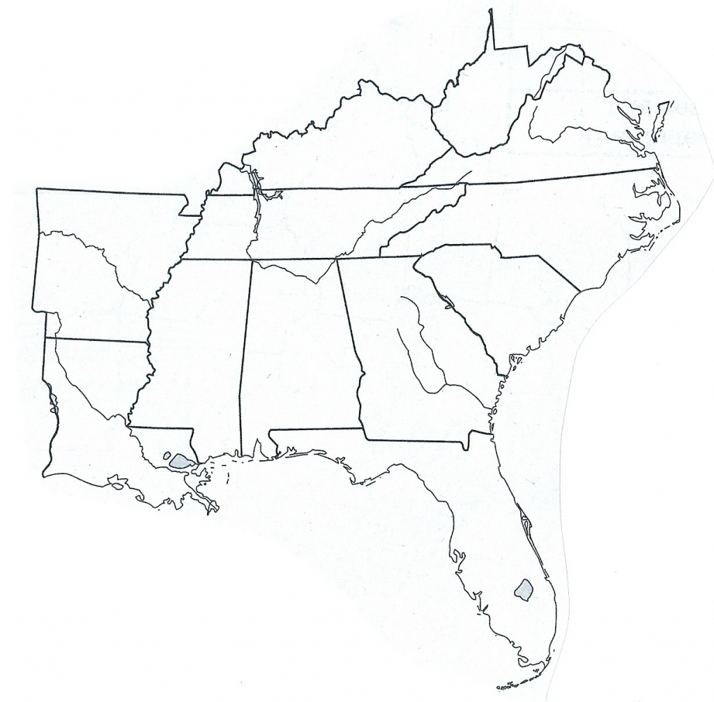 Blank Printable Map Of The United States Best Southeast Us