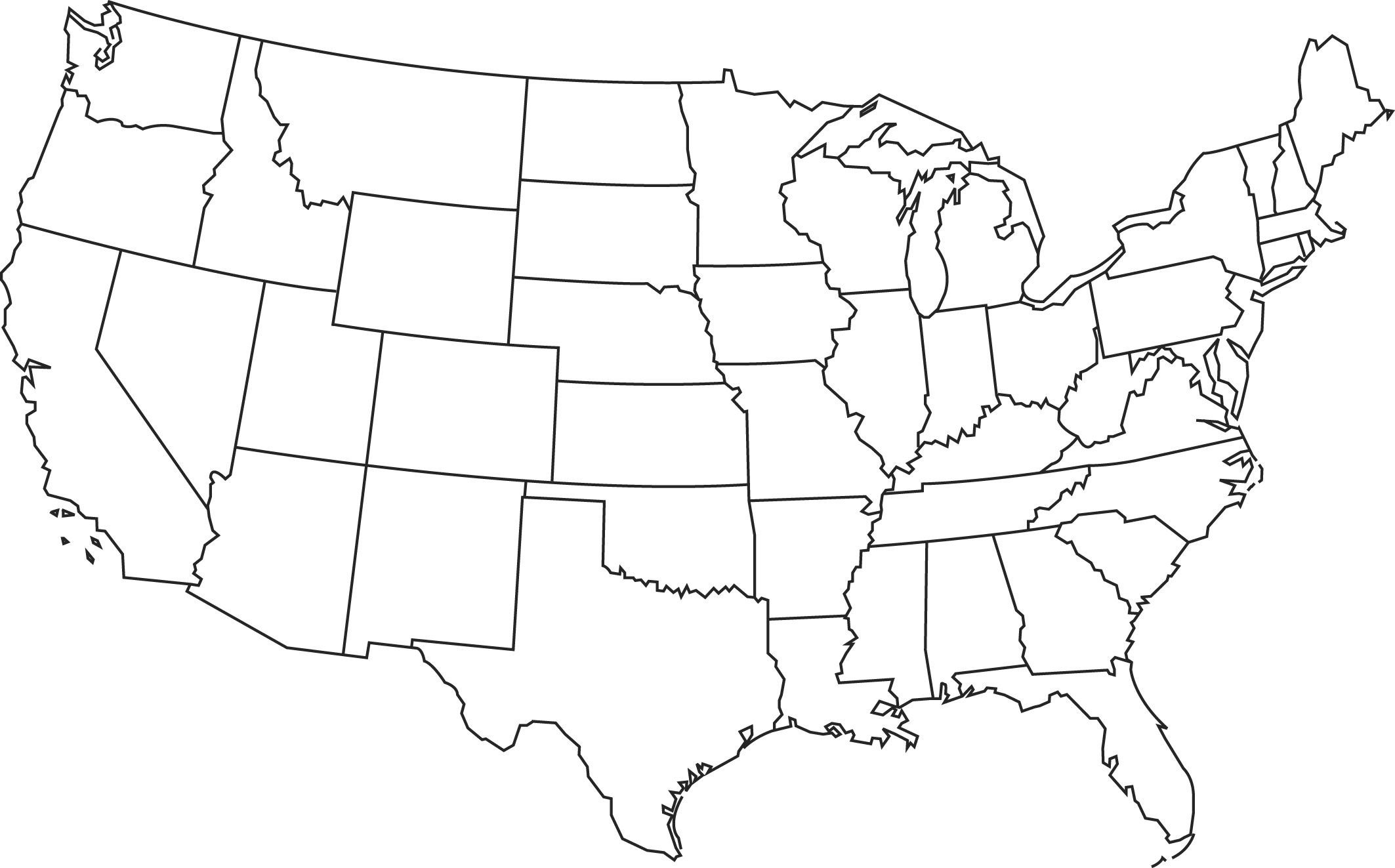 Blank Us Map Clipart Map Outline United States Map Us