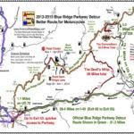Blue Ridge Parkway 2013 Detour Map For Motorcycles Travel