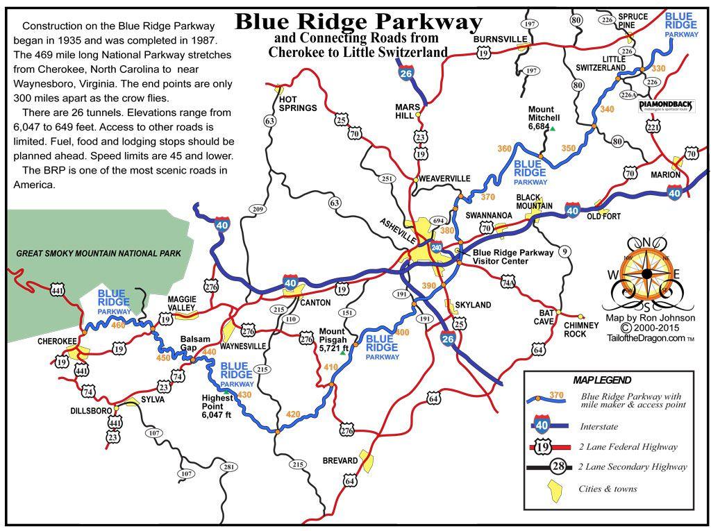 Blue Ridge Parkway Cherokee To Little Switzerland Tail