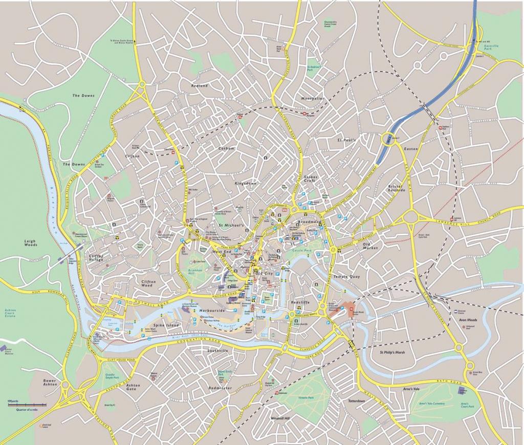 Bristol Maps Guides Bristol Street Map Regarding