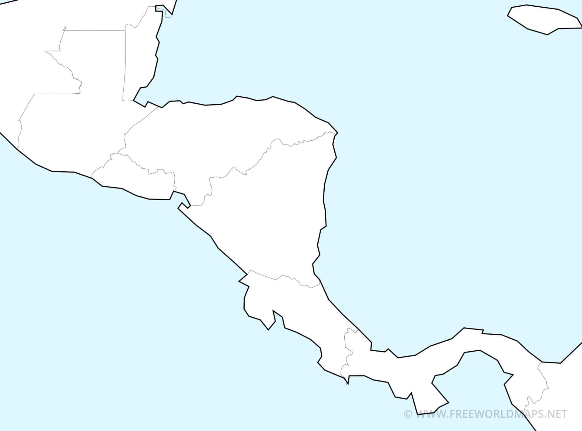 Central America Printable PDF Maps Freeworldmaps