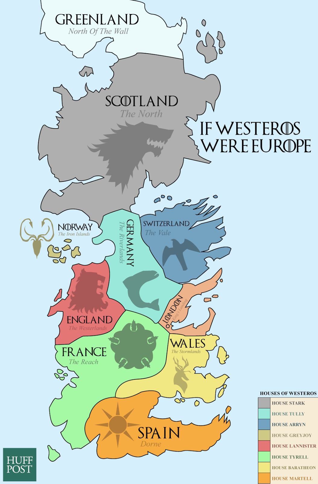 Click On IF GAME OF THRONE S WESTEROS WERE EUROPE