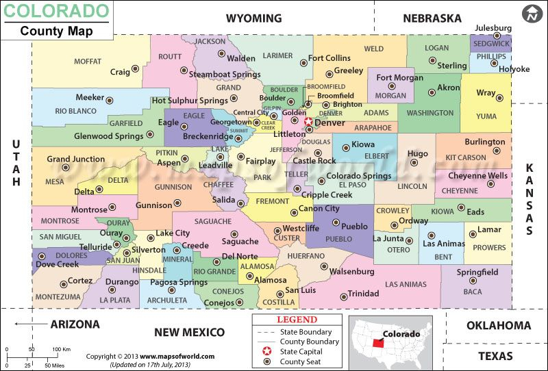 Colorado County Map Colorado Map County Map Colorado
