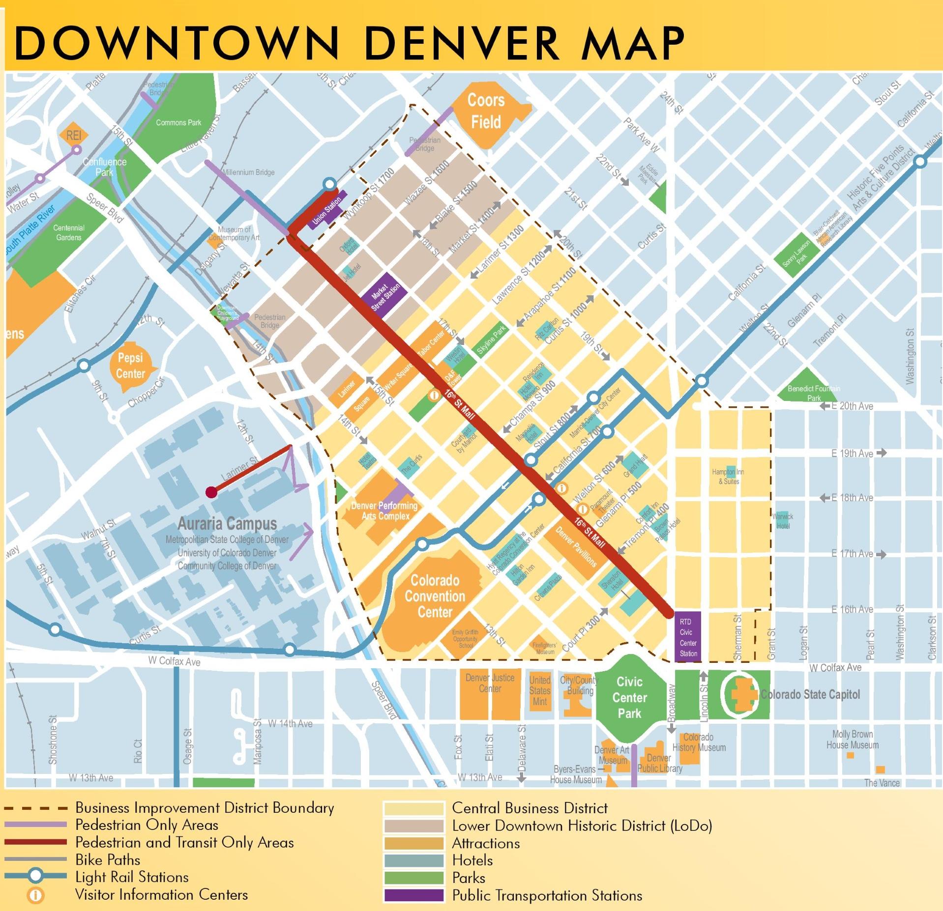 Denver Downtown Map