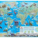 Dinosaur World Map Map Poster Dinosaur Posters Wall Maps
