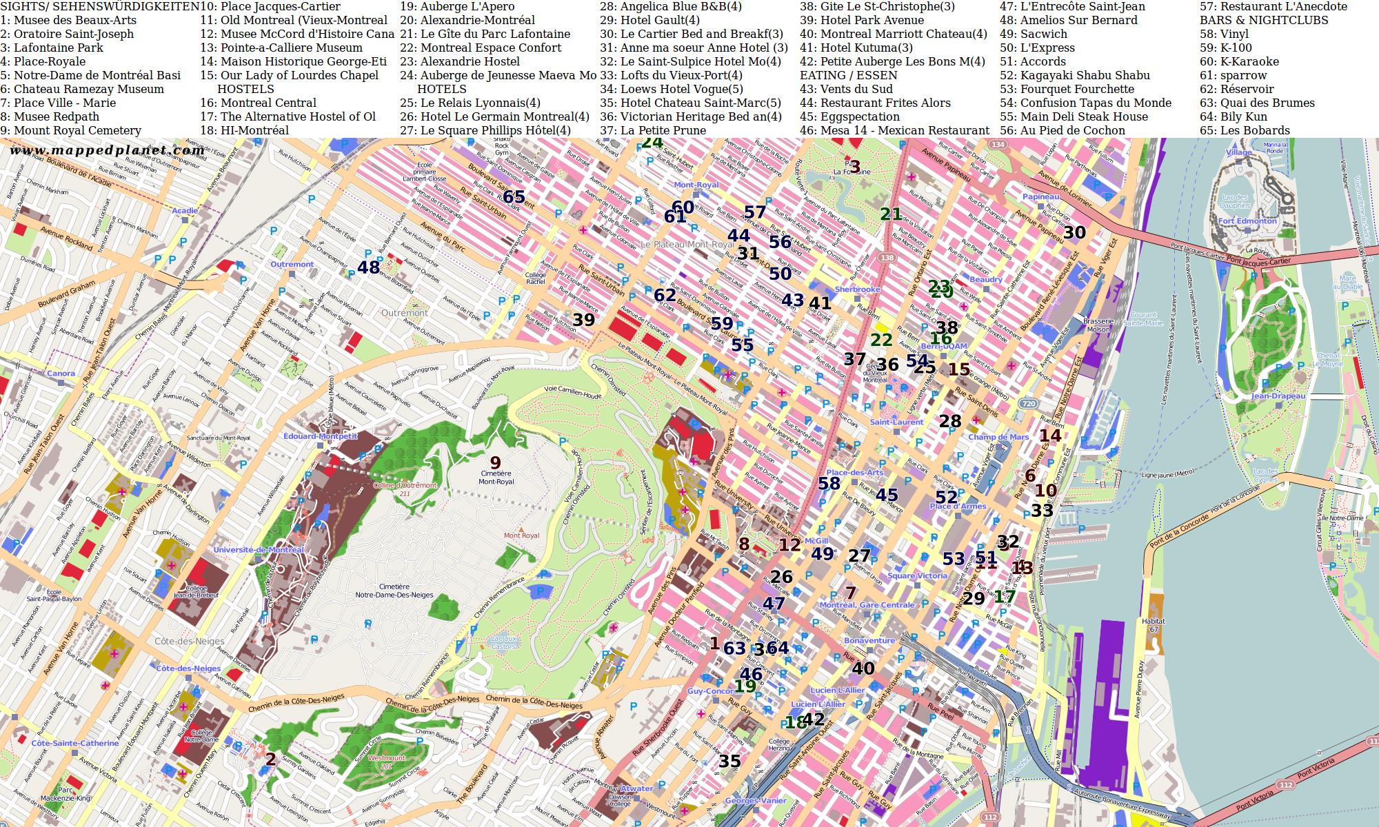Downtown Tourist Map Tourist Map Short Trip Trip