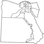 Egypt Governorates Blank Mapsof