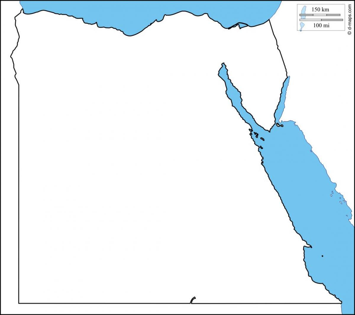 Egypt Map Outline Egypt Outline Map Printable Northern