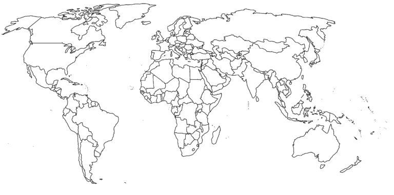 Exhaustive Printable Simple World Map Outline World Map