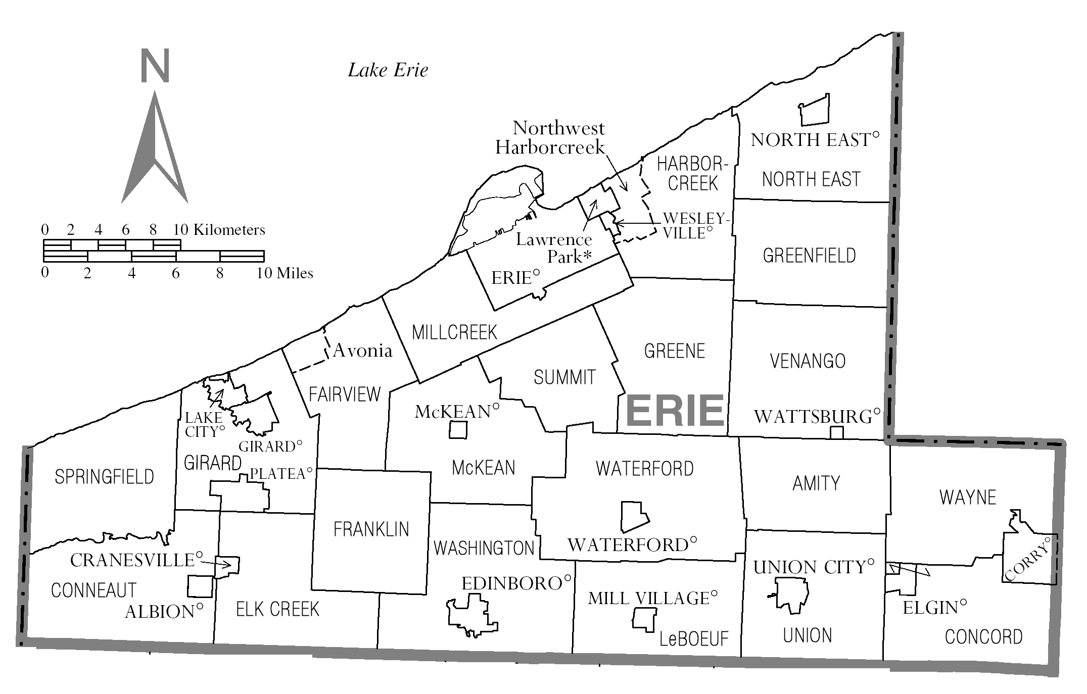 File Map Of Erie County Pennsylvania png Wikimedia Commons