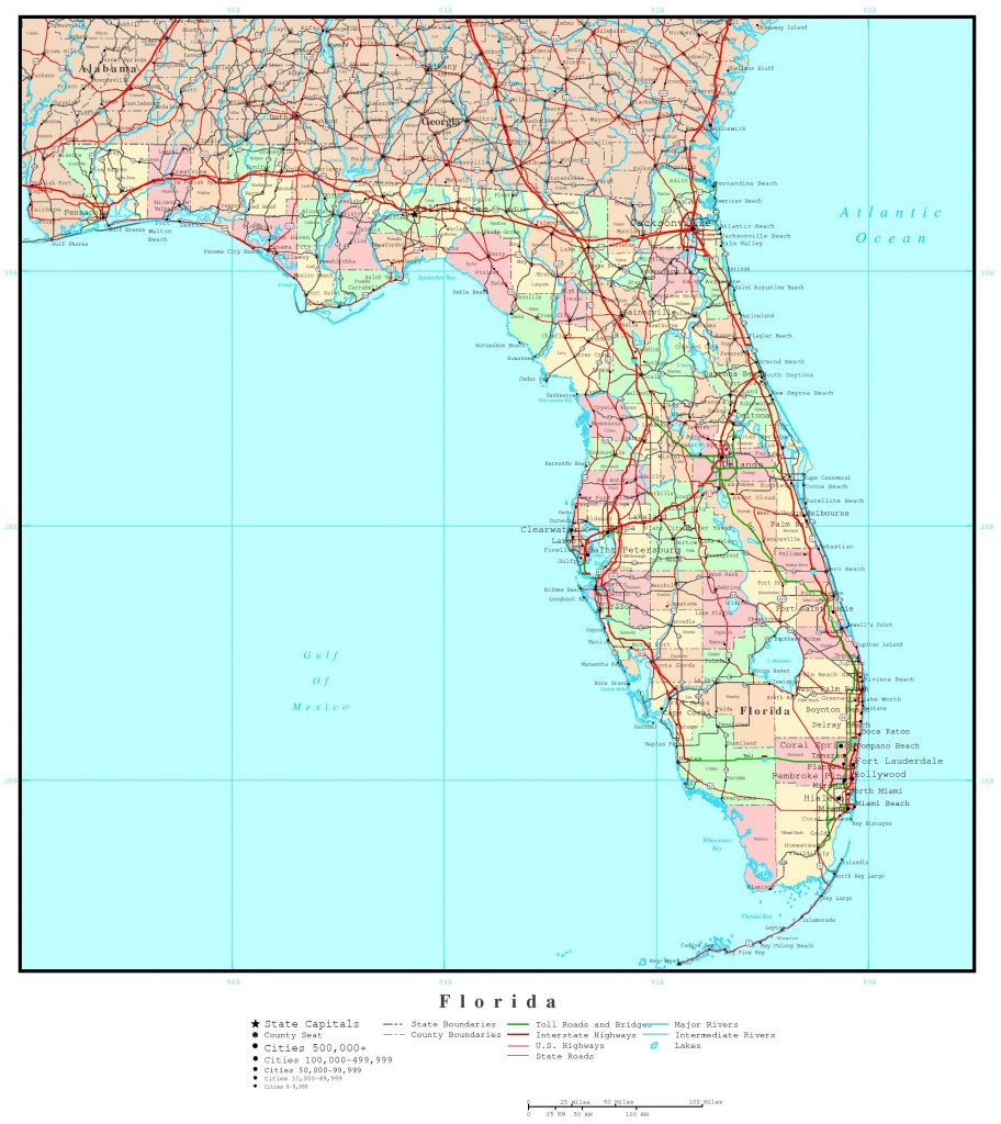 Florida Political Map Florida Elevation Map By County