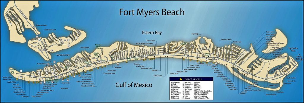 Fort Myers Beach Street Map The Best Beaches In The