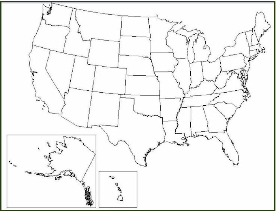 Free US State Map Collection To Print And Share