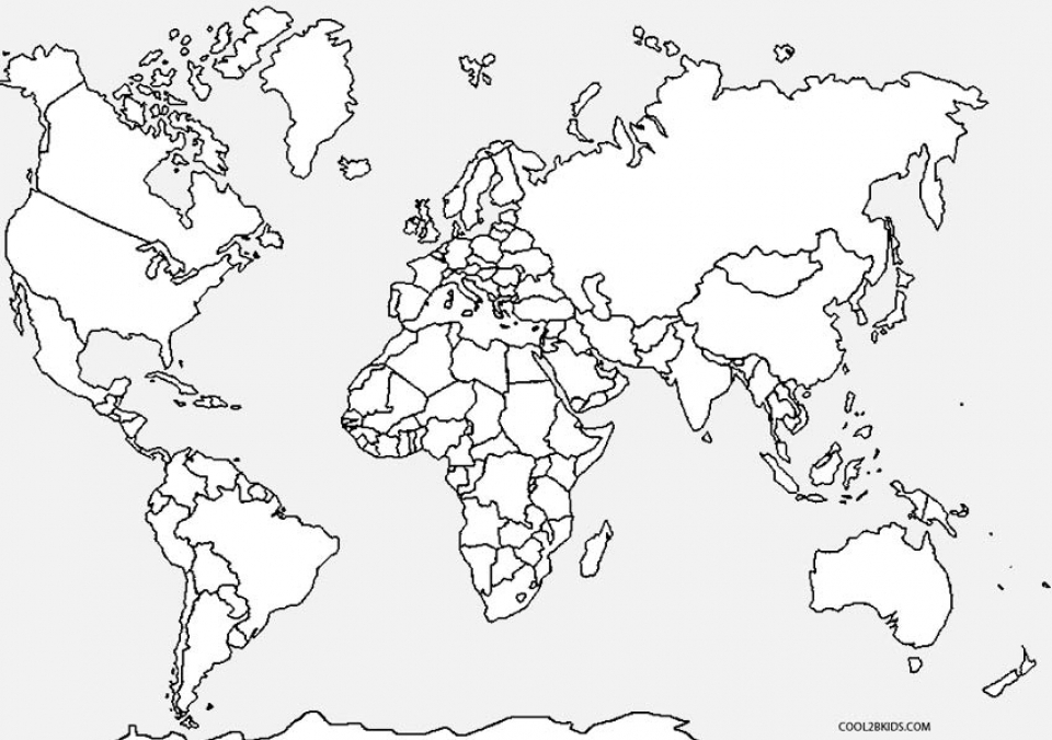 Get This Kids Printable World Map Coloring Pages X4lk2
