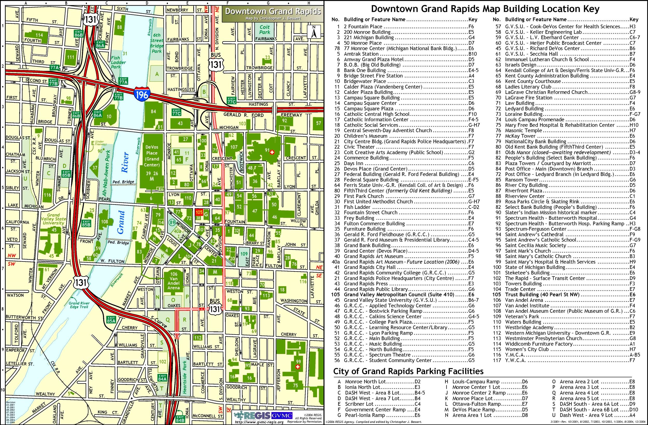 Grand Rapids Downtown Buildings Map
