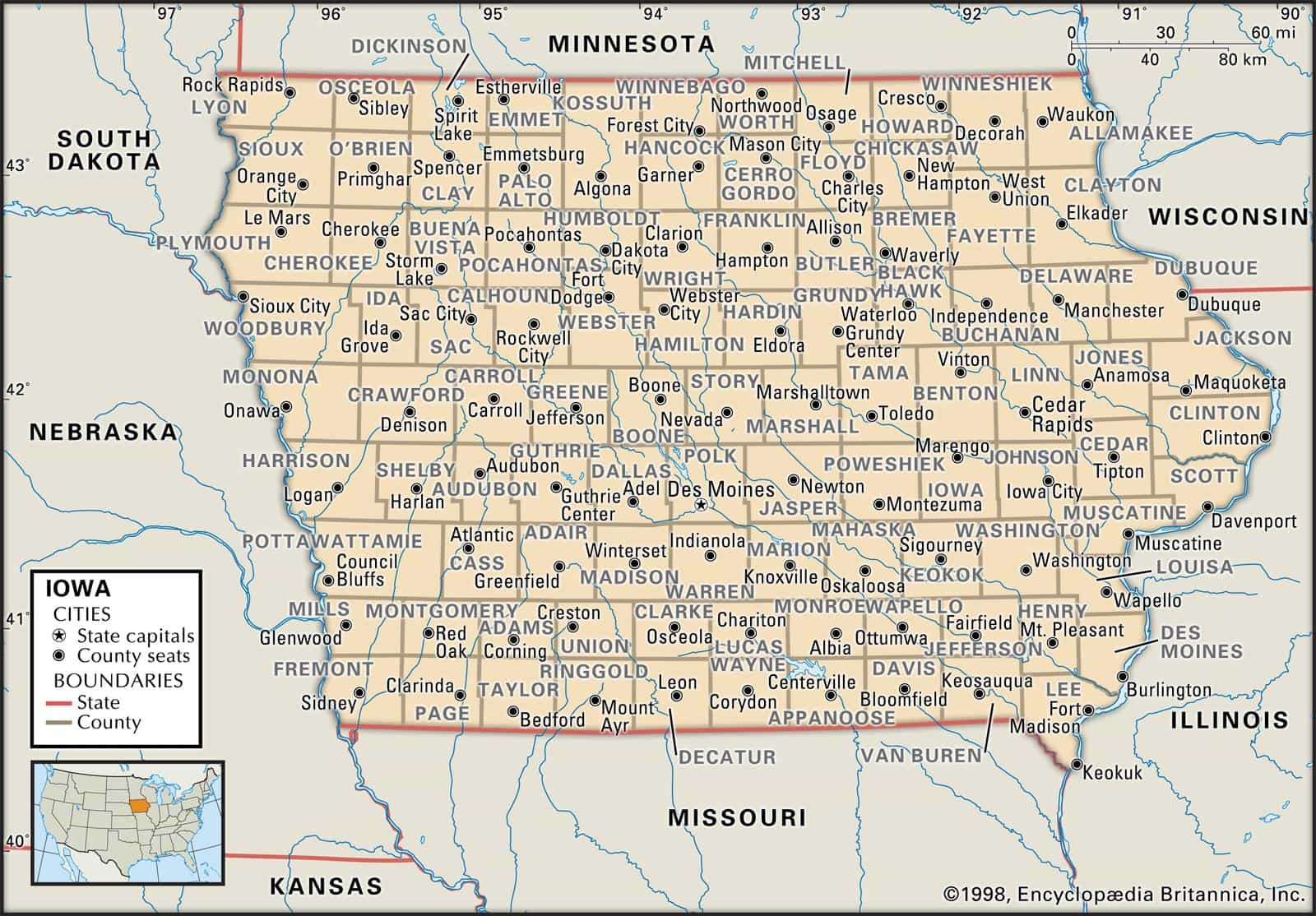 Historical Facts Of Iowa Counties
