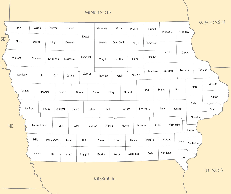 Iowa County Map Mapsof