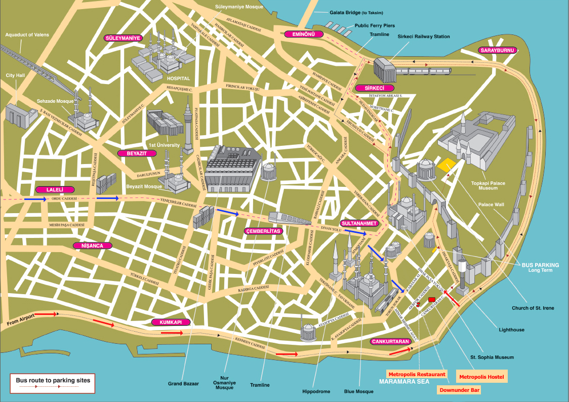 Istanbul Map Map Of Istanbul Rail System Printable