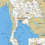 Large Detailed Road Map Of Thailand Thailand Large
