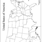 Large Printable Outline Map Of The United States