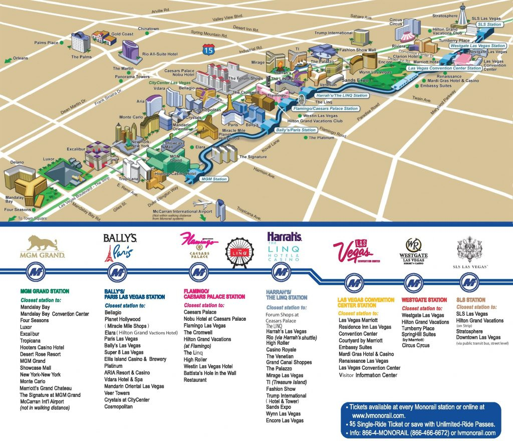 Las Vegas Strip Hotels And Casinos Map Printable Vegas