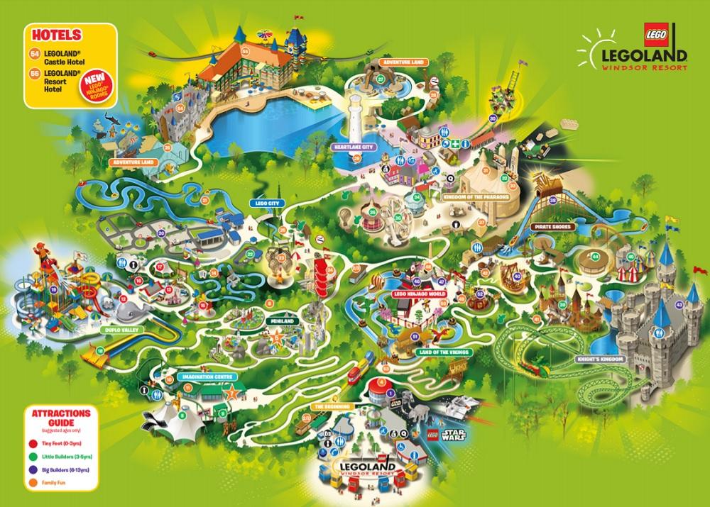 Legoland Windsor Map Printable PrintAll
