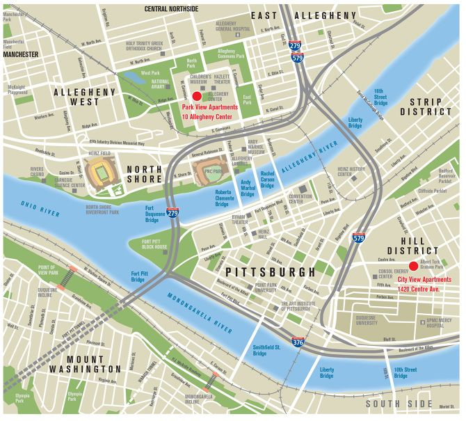 Map Of Downtown Pittsburgh
