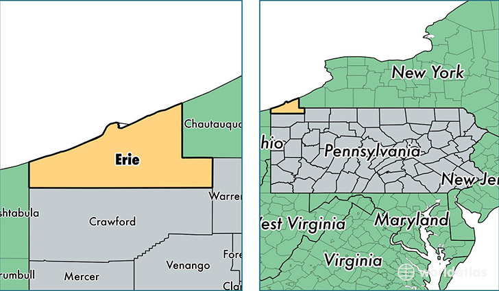Map Of Erie County Pa Maping Resources