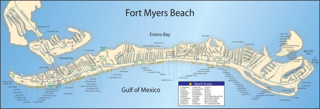Map Of Fort Myers Beach Dehazelmuis Estero Beach