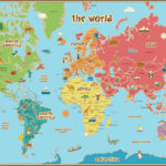 Map Of The World For Kids With Countries Labeled Printable