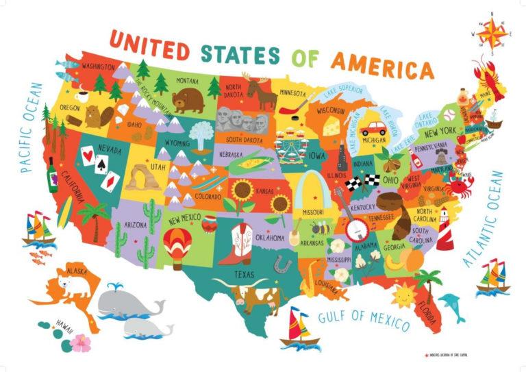 Mapa De Estados Unidos Pol tico Con Nombres Estados Y