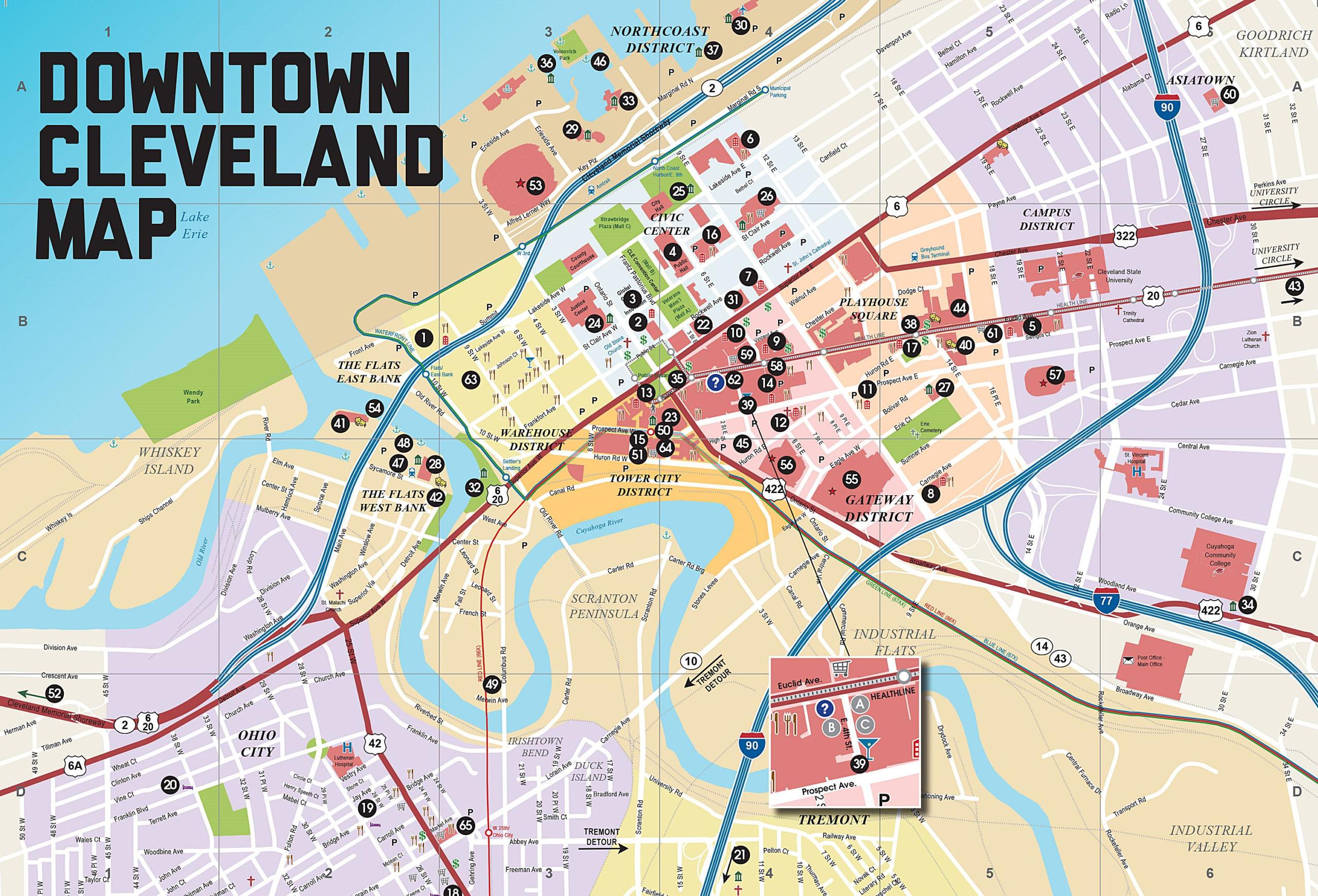 Mapas Detallados De Cleveland Para Descargar Gratis E Imprimir